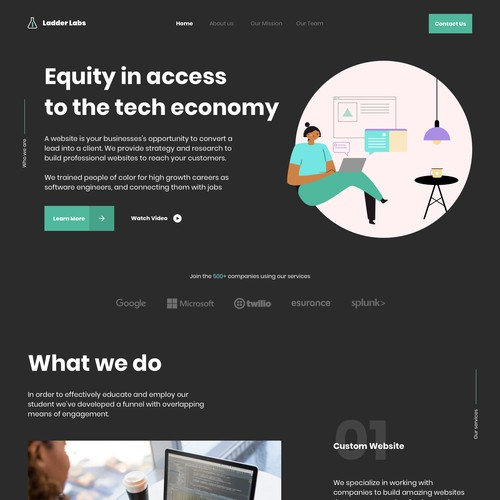 Equity Website Design