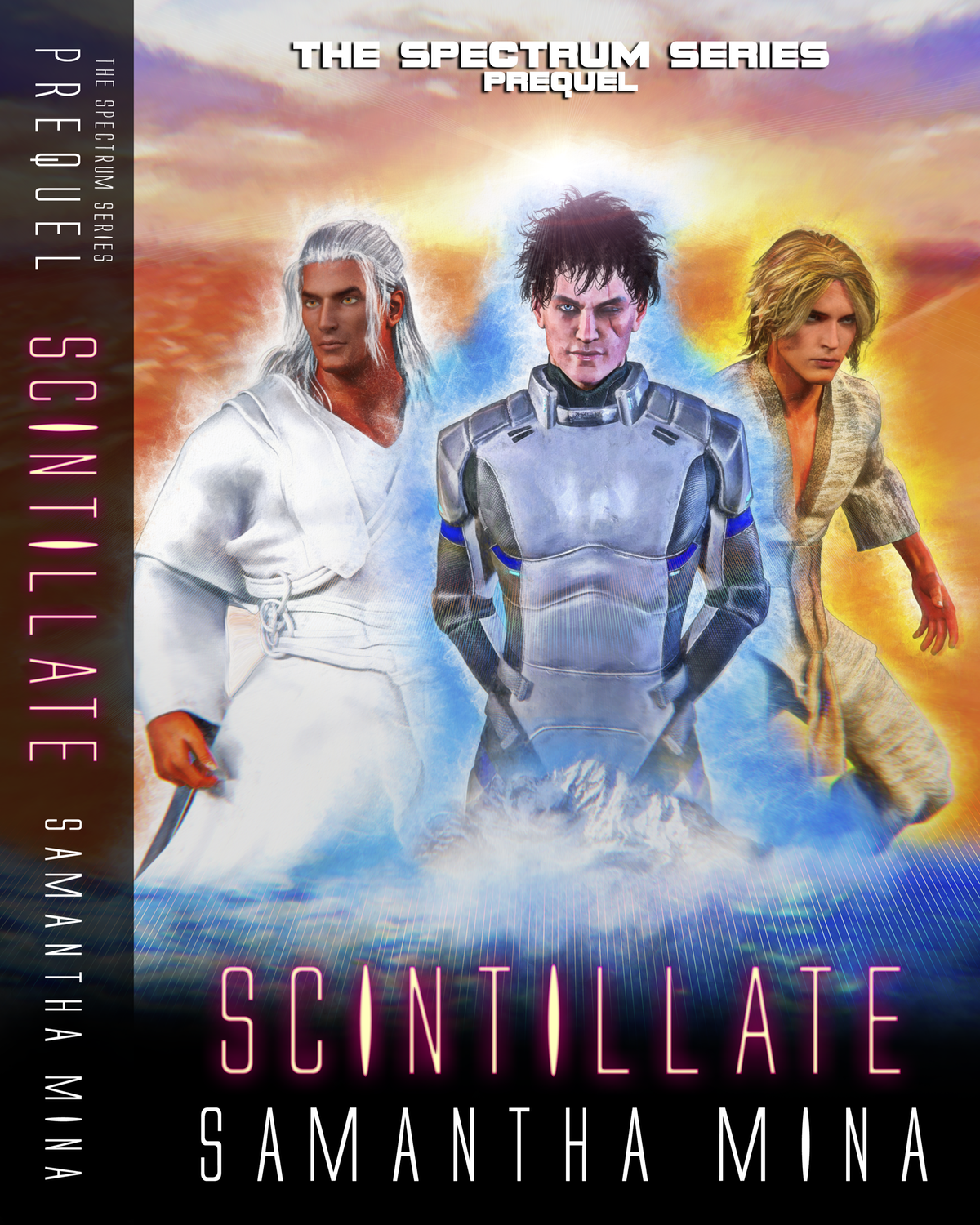Cover and Spine for the Prequel to the Spectrum Series: SCINTILLATE