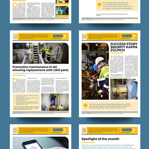 Newsletter Magazine Layout