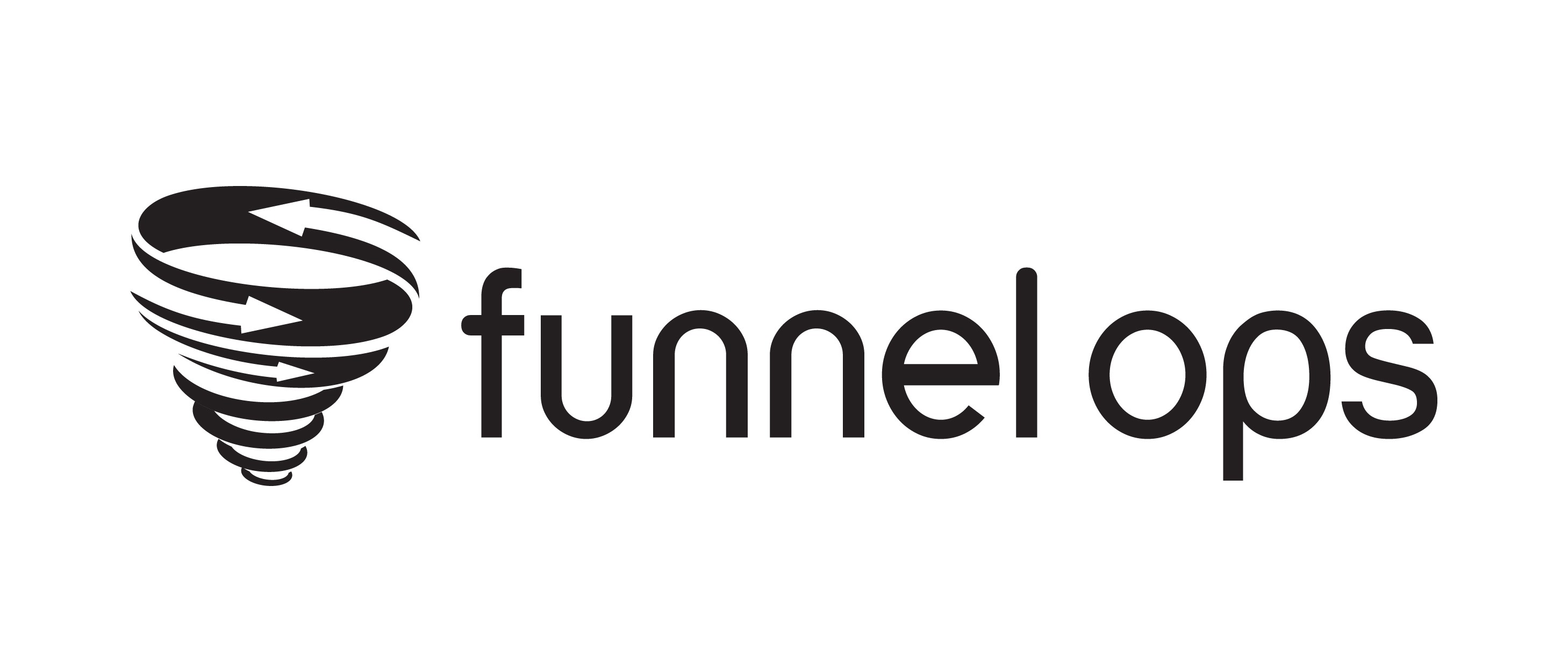 Create a professional and clean logo for web analytics agency Funnel Ops