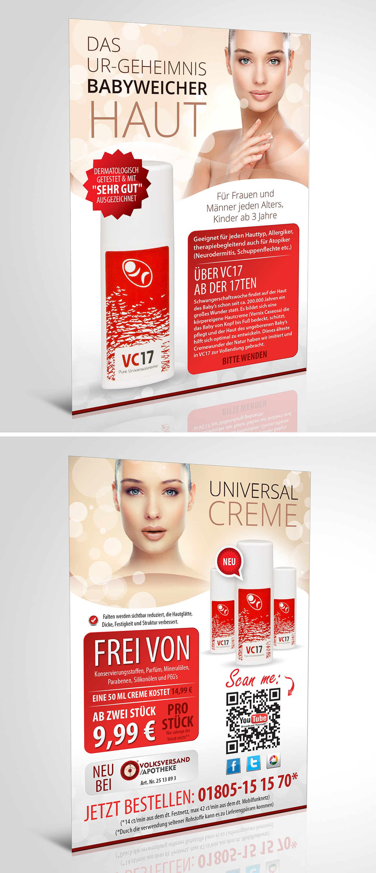 Flyer design for cosmetics company