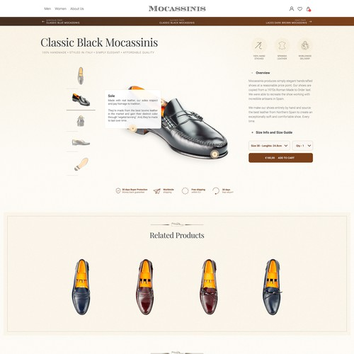 Mocassinis eCommerce store