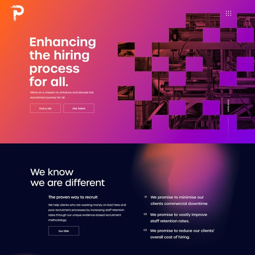 Home Page Design for a Recruitment Company