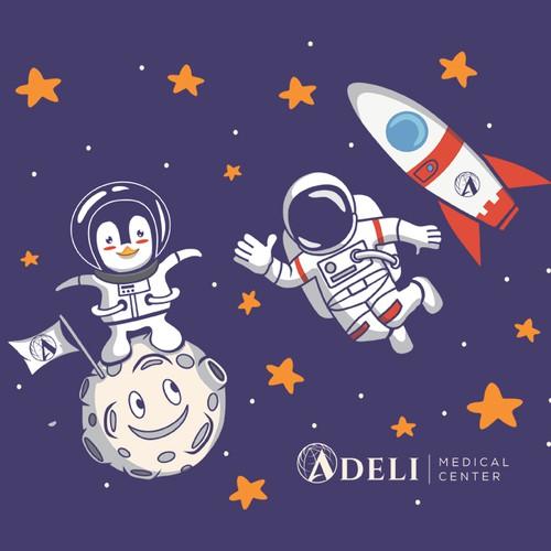 Design for Adeli Medical Center merchandise