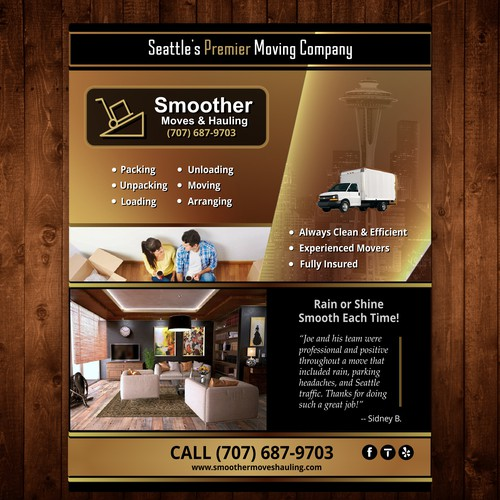 Elegant Flyer for Moving Company