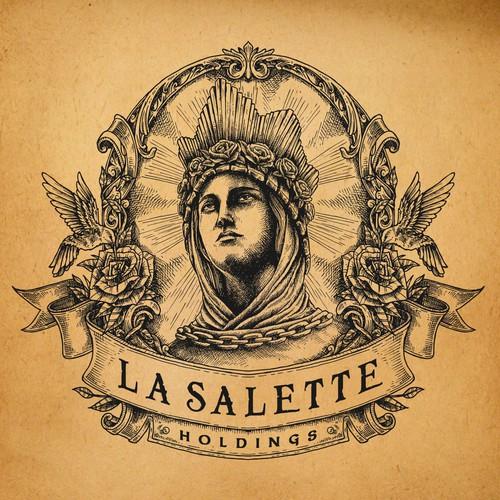 Classic Medieval theme logo for La Salette