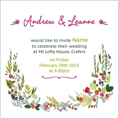 Green-fingered couple seeks the perfect wedding invitation