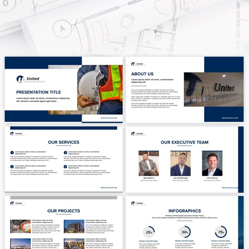 Presentation template for The United Contractor Services