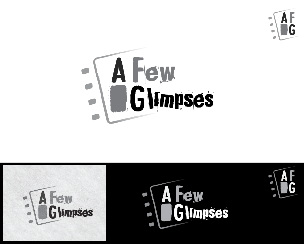 """a few glimpses"" photo blog needs a logo"