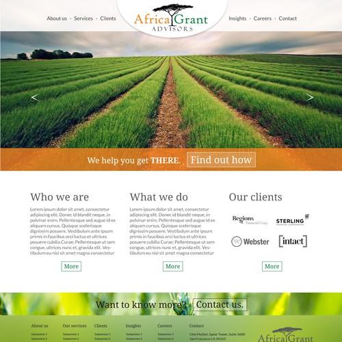 Website design for Africa-focused consultancy!