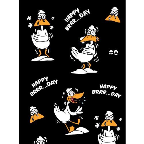 Birthday Fun Silly Cartoon Pattern