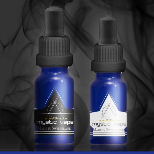 Etikettendesign für eine Aroma Produktlinie