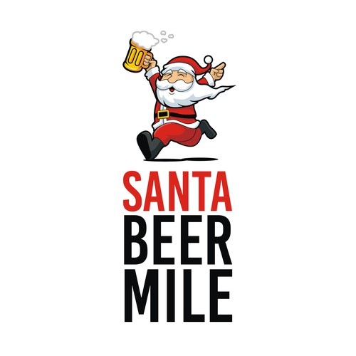 santa beer mile logo