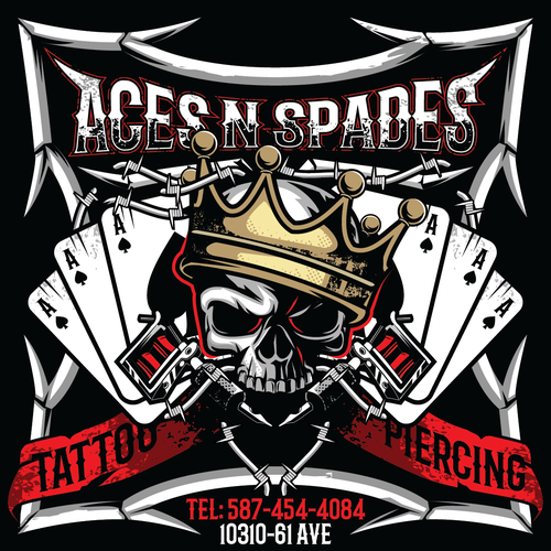 POSTCARD ACES N SPADES TATTOO