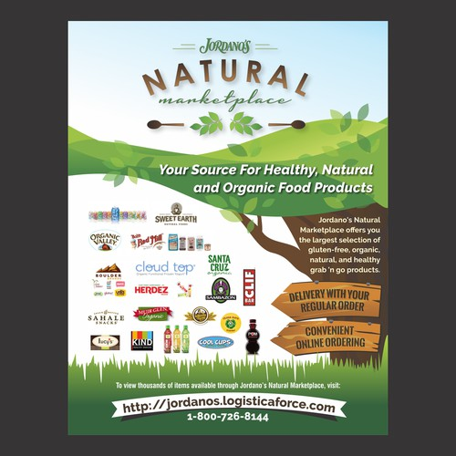 Cover design for an organic and natural food products
