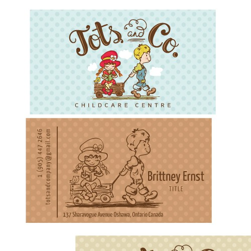 Unique vintage logo & business card for childcare centre