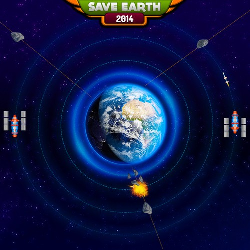 Make the graphical design for the next global blockbuster game hit in the Space Shooter genre!