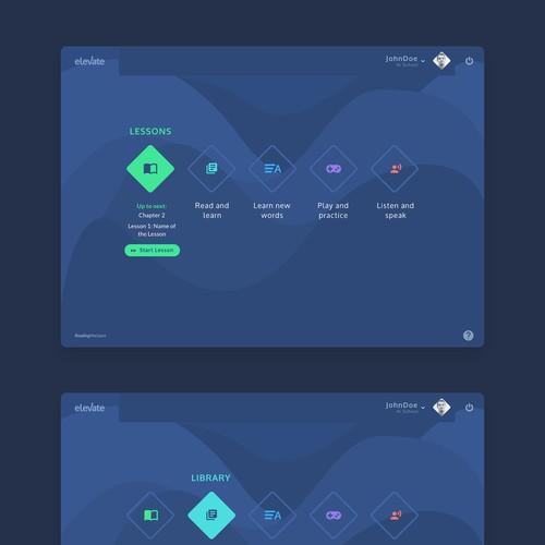 Redesign of desktop/tablet education platform (part1)