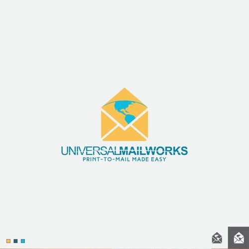 Universal Mailworks logo design
