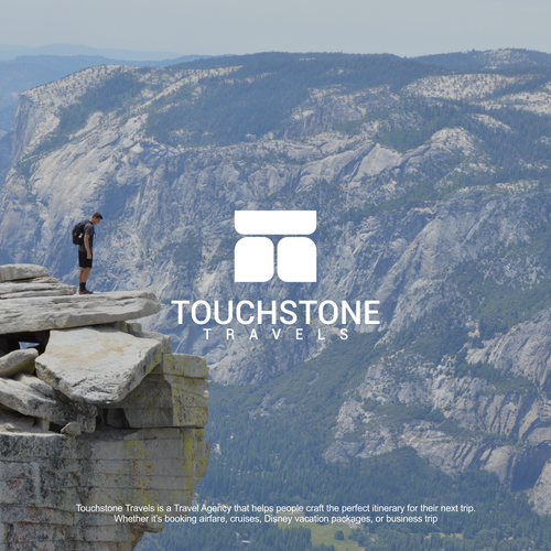 flat logo concept for touchstone travels