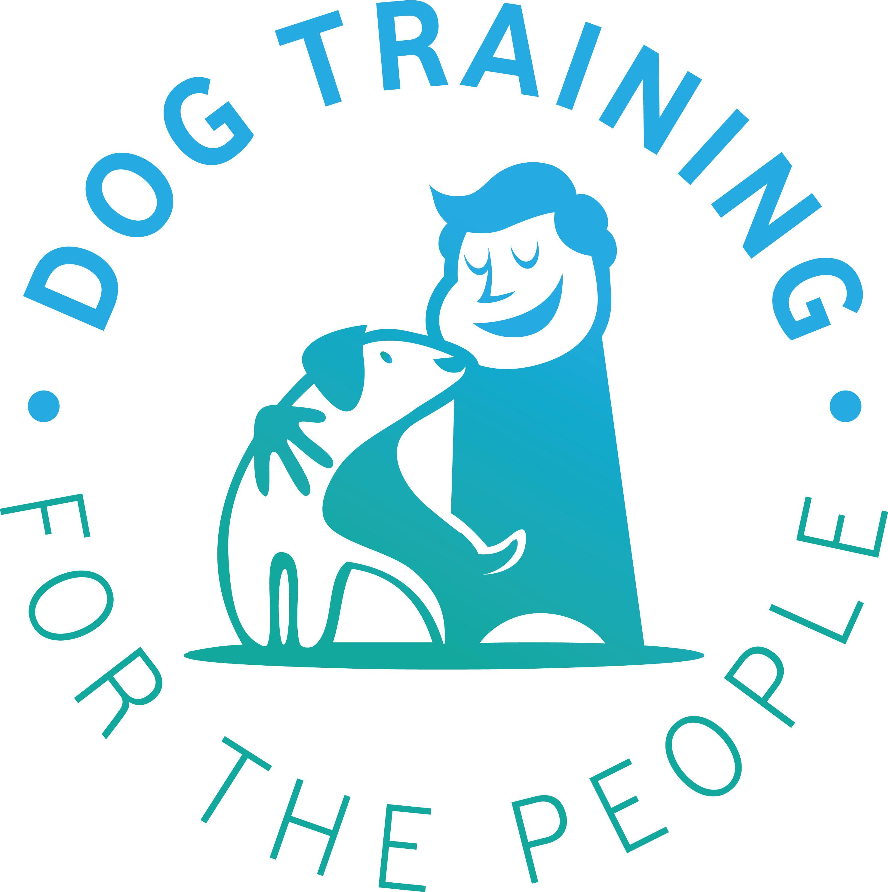 Create an inspirational logo for a free, web-based dog training platform