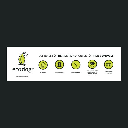 Clear Banner design for ecodog