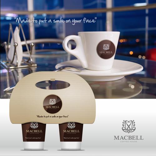 thru cafe logo design for MACBELL
