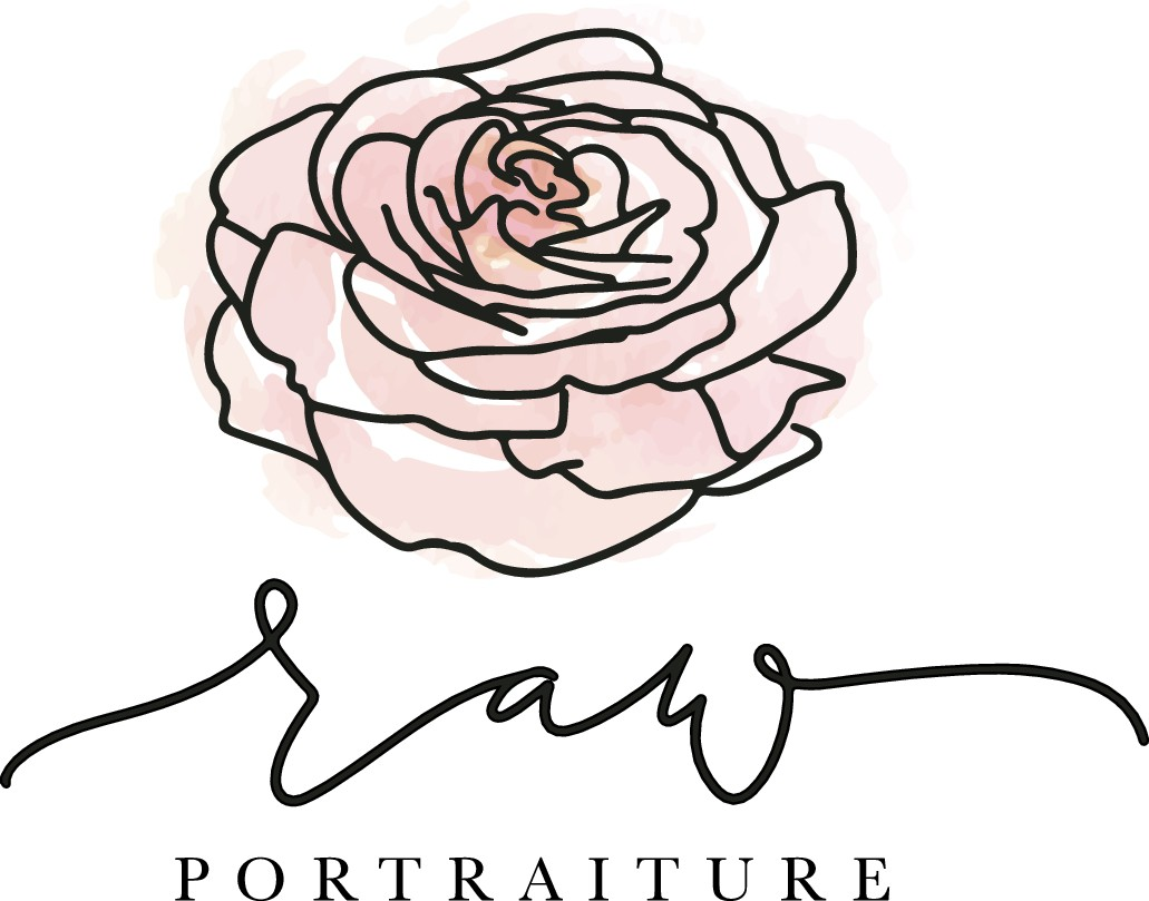 *Raw and wild rose logo for transformational women's fashion portrait photography studio*