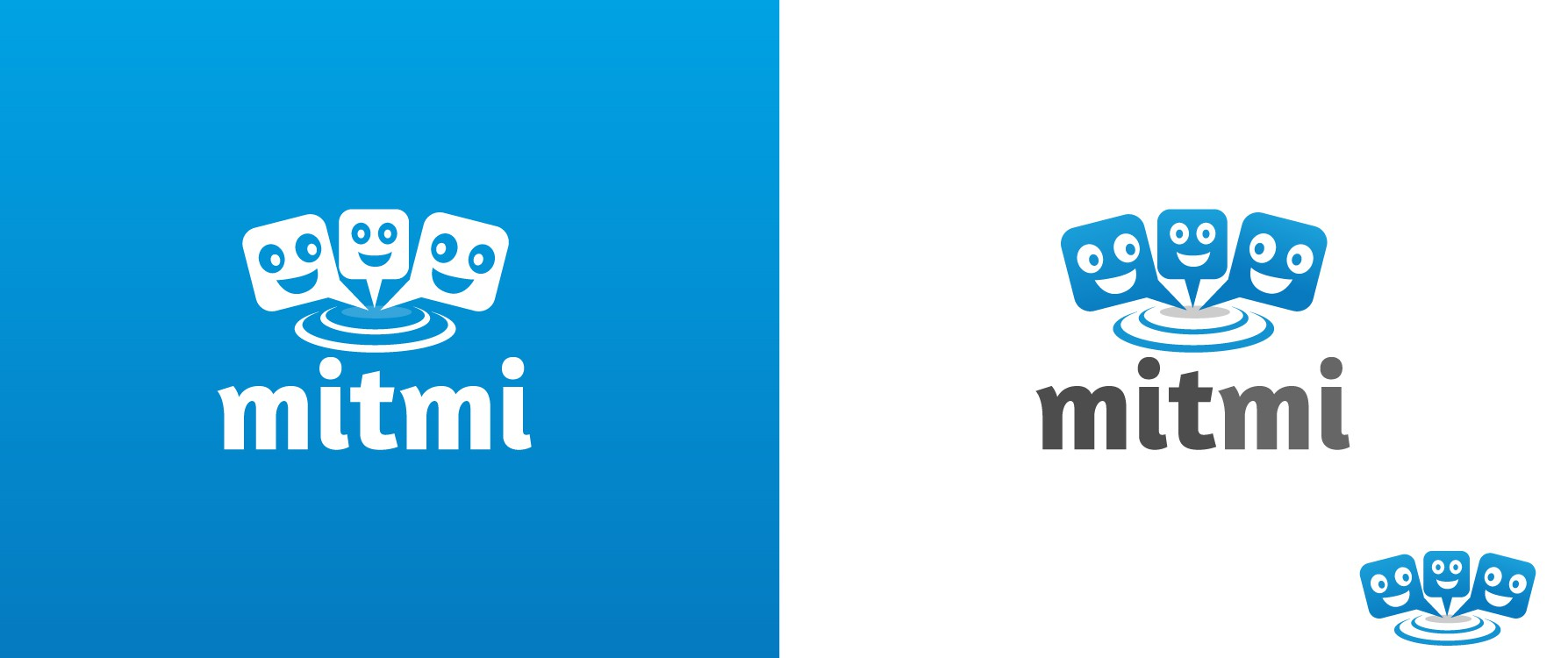 "logo for MITMI (Comes from the expression ""MEET ME"")"