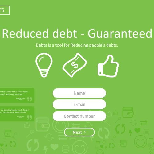 Landing page - Debts