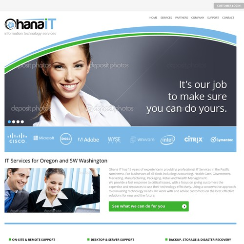 Website design for Ohana IT