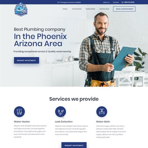 Design a clean & bold Plumbing website