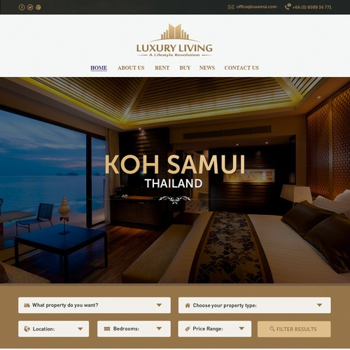 Luxury real estate website design needed