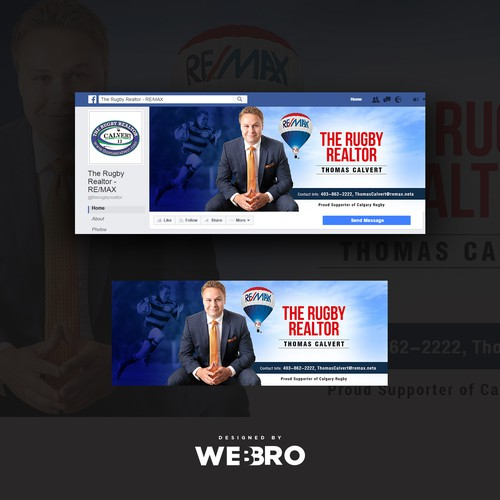 Rugby/Real Estate Facebook Cover