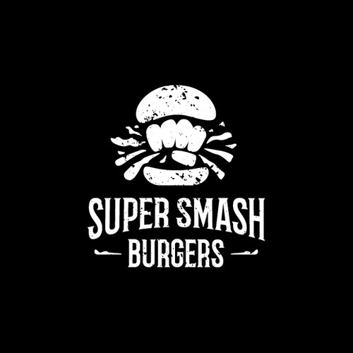 super smash burgers - logo design