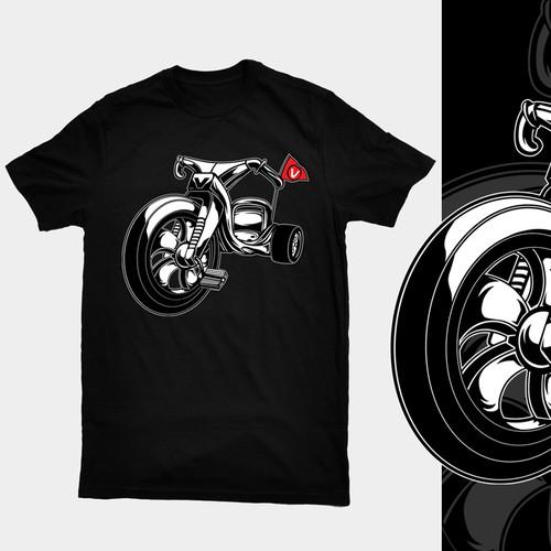 Big Wheel trike hot rod tshirt