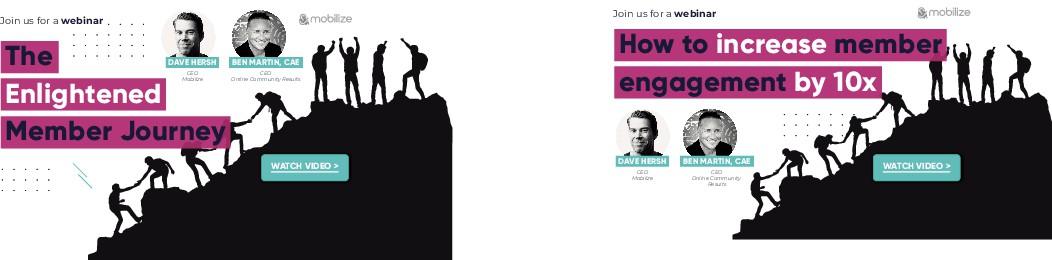 Mobilize Member Journey Post-Webinar Linkedin Ad