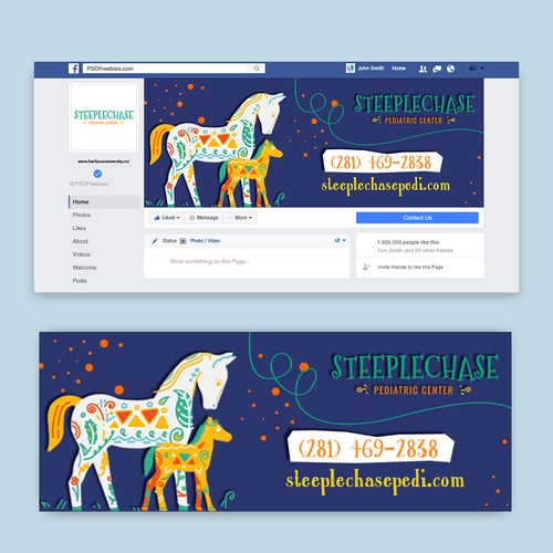 Pediatric Clinic Facebook Cover Art