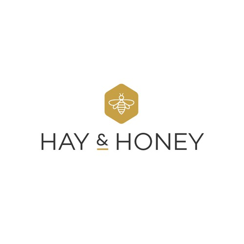 Simple logo with farmhouse charm for Hay & Honey
