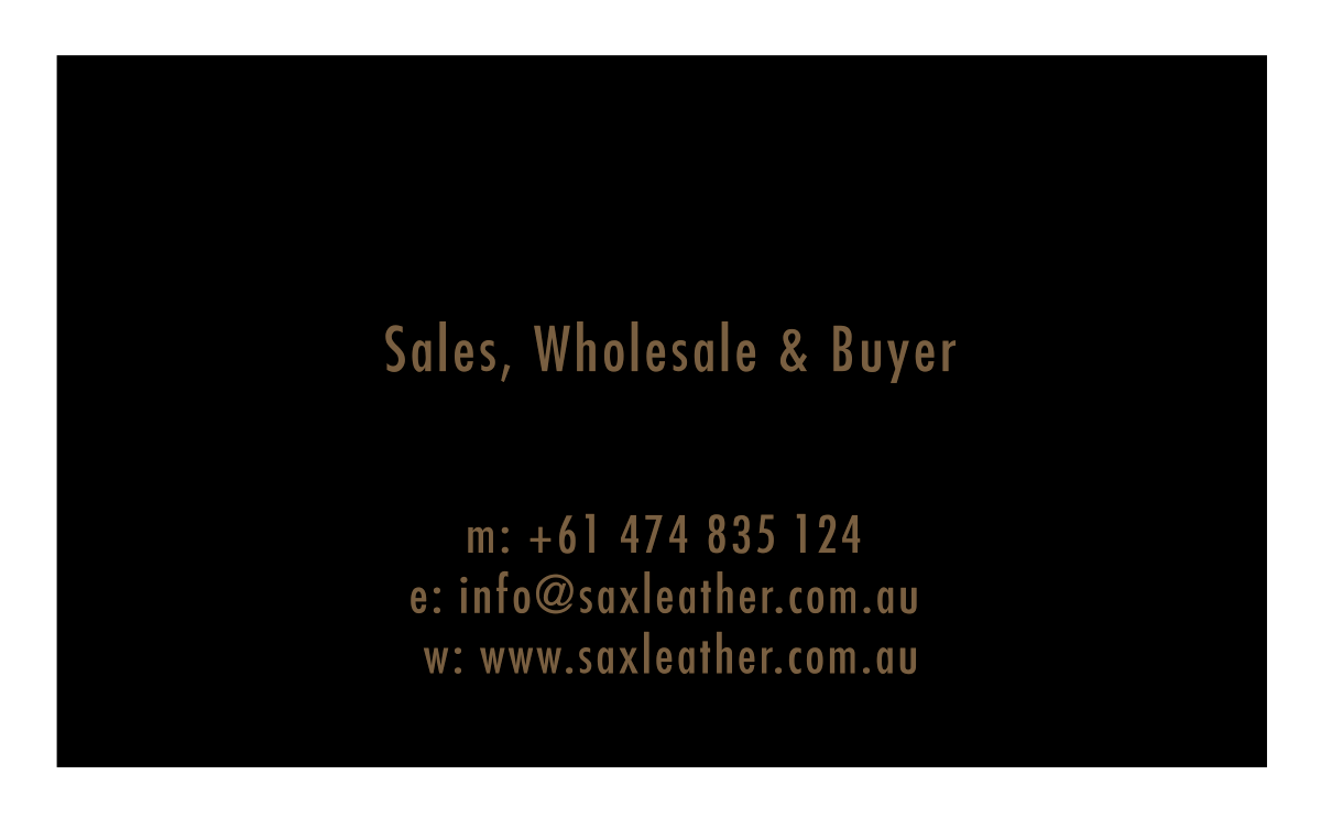 S(A)X Leather Business Card