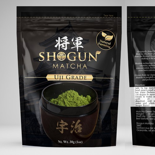 Foil Pouch Packaging for Shogun Matcha