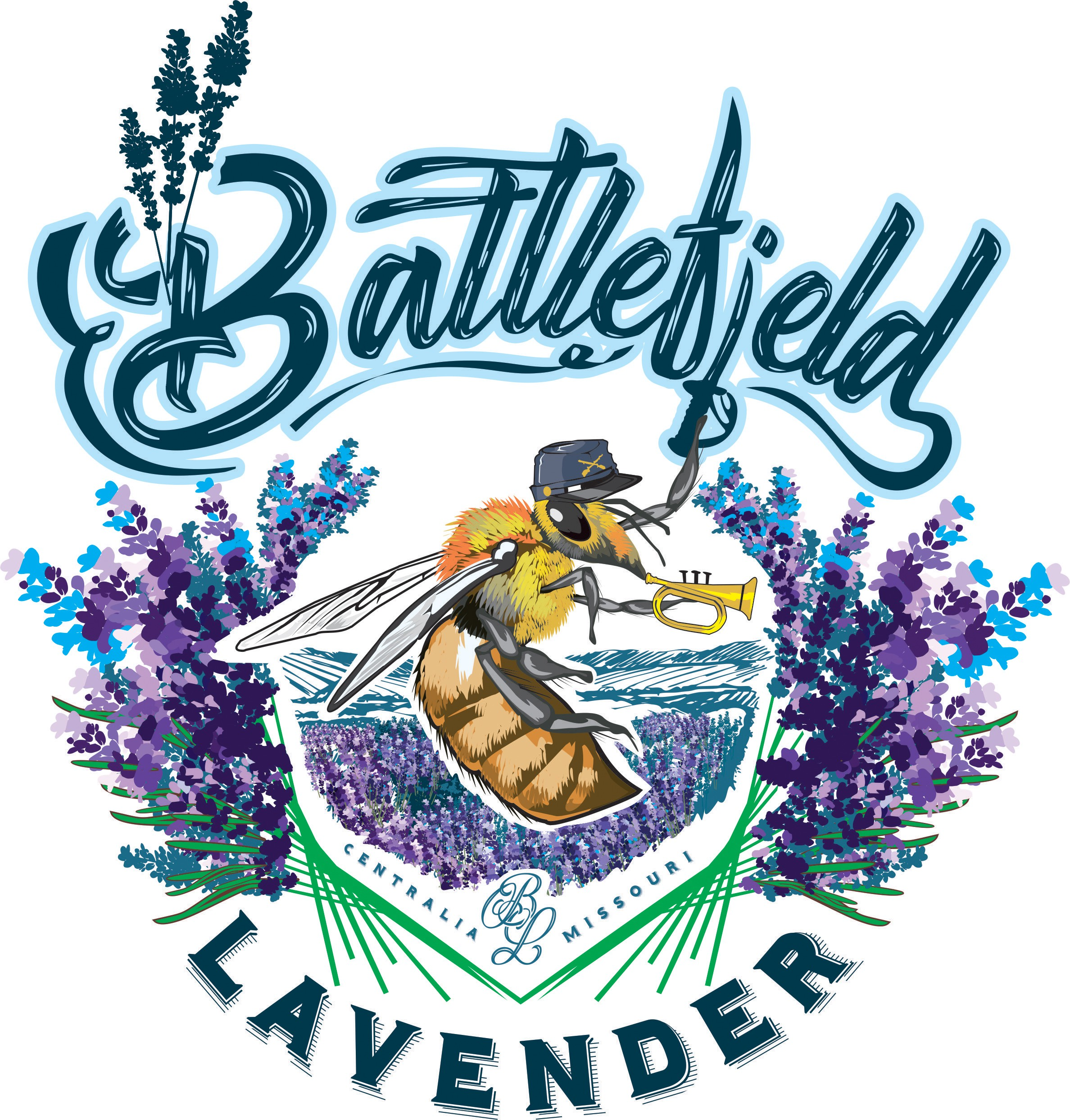 Logo Design for Battlefield Lavender - Combine history and beauty