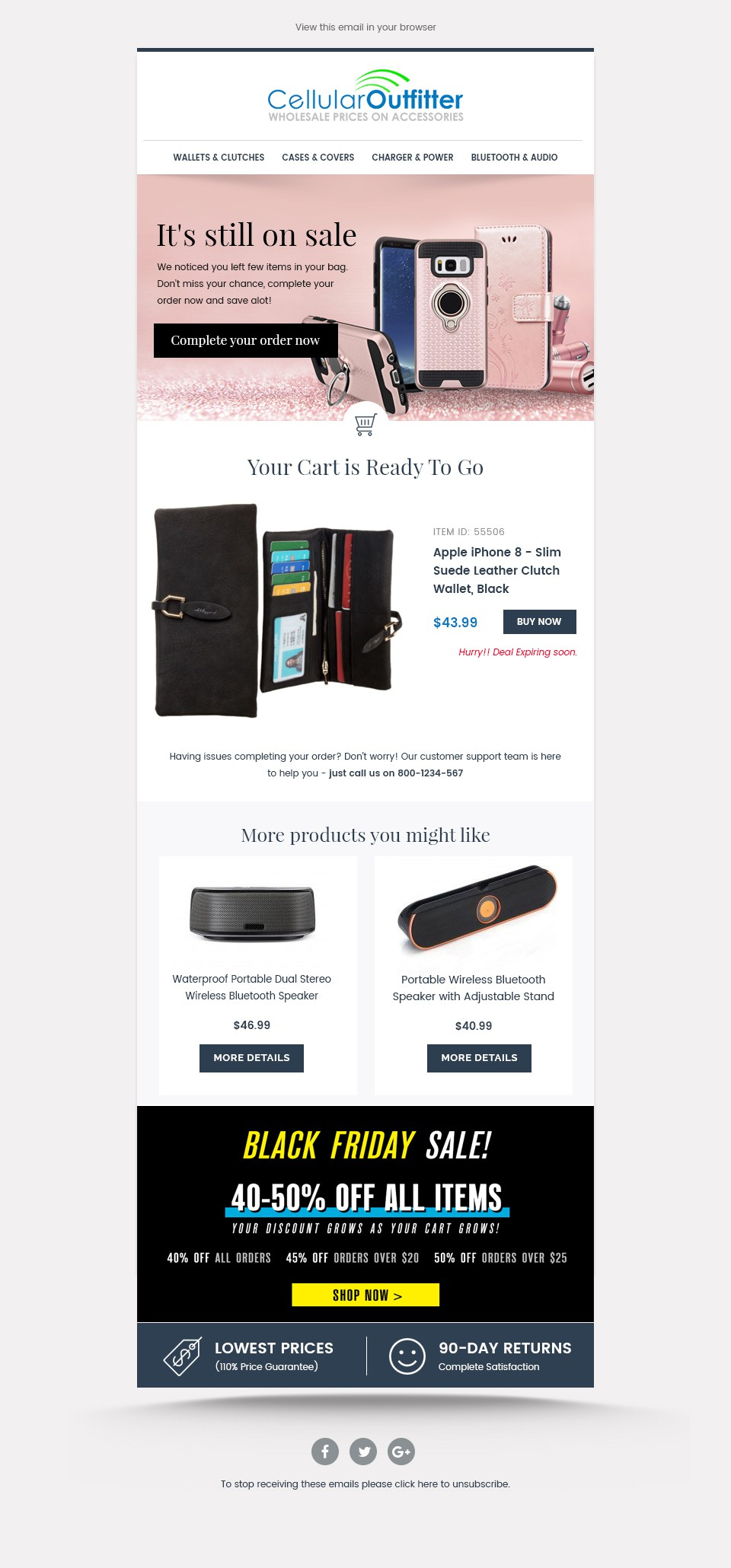 Cart Abandon Email Template