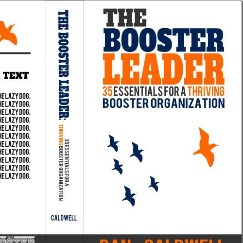 Design a compelling book cover for The Booster Leader!