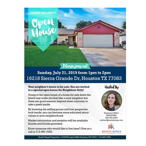 Neighborhood Open House Invitiation