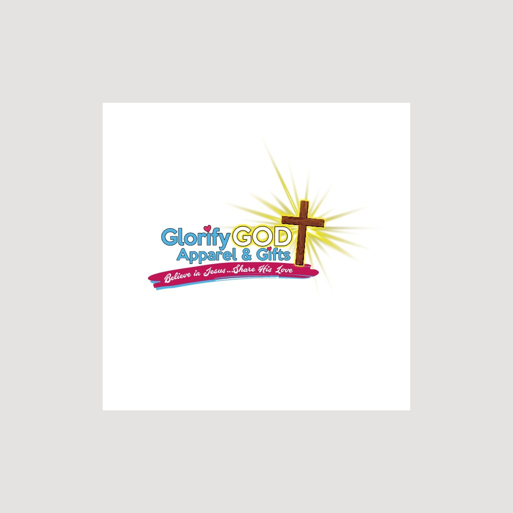 "Glorify God Apparel & gift logo that indirectly says ""Faith, Love & Hope"""