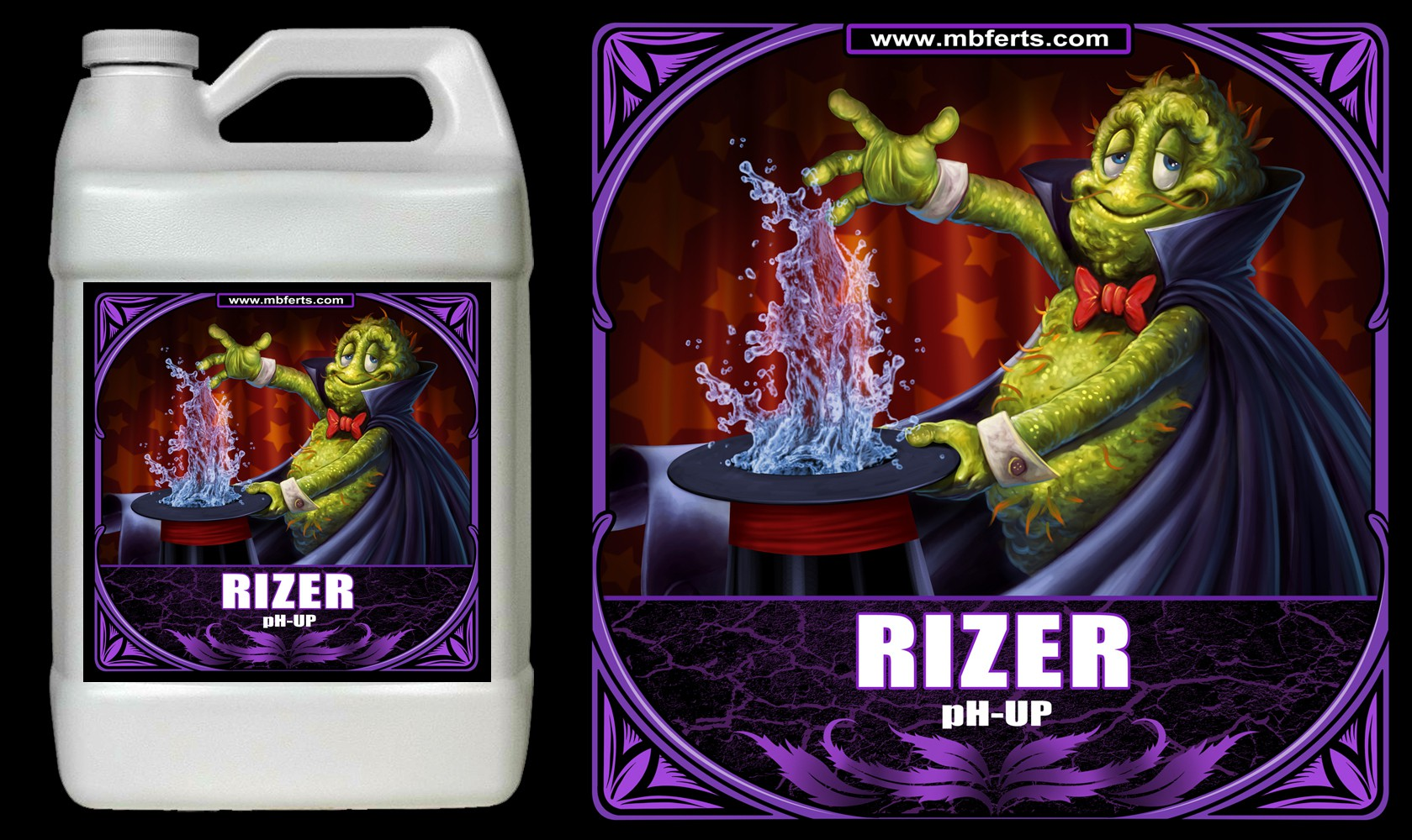 Rizer pH Up Product Label