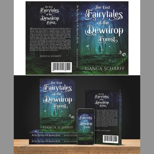 contest : Strikingly beautiful yet creepy Dark enchanted forest Book cover