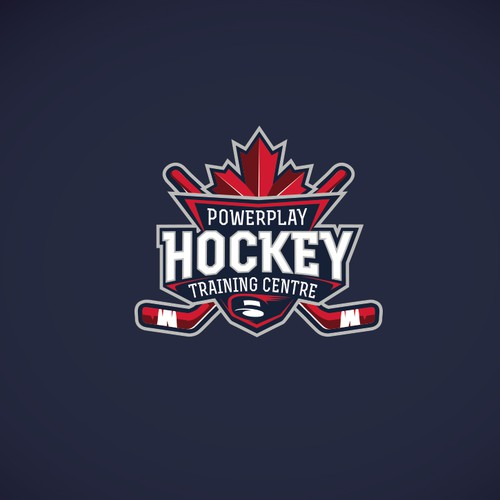 Concept logo for hockey team