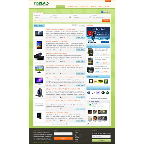 Create the next website design for Ty's Deals